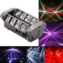 Mini Luz de araña Led de alta calidad, 8x10W, DMX512, luces con cabezales móviles, haz de luz para Club, Dj, Iluminación de discoteca, lámparas KTV RGBW