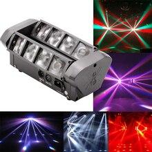 Yüksek kaliteli 8X10W Mini Led örümcek ışık DMX512 LED hareketli kafa lambaları led ışın kulübü dj disko aydınlatma KTV lambaları RGBW kiriş