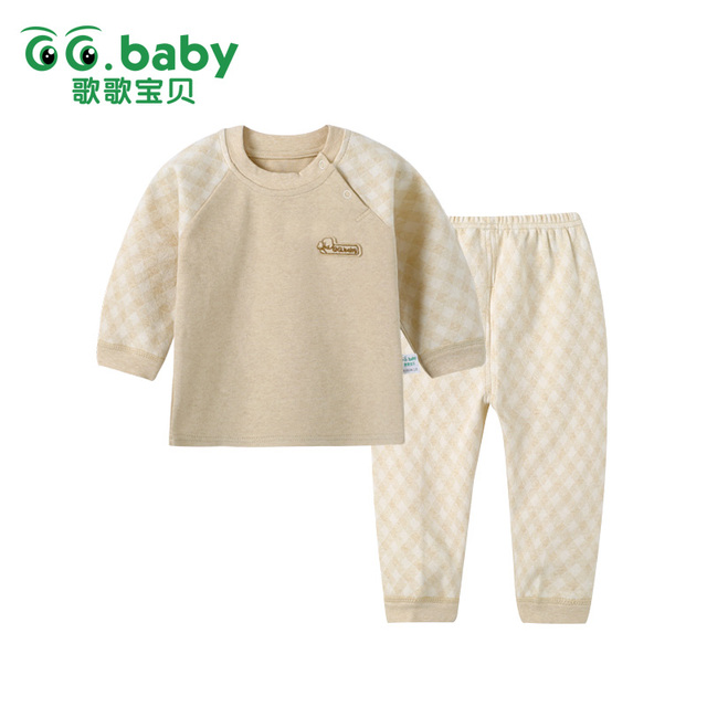 2 Pcs/set Autumn Newborn Clothing Sets Long Sleeve Kids Clothes Baby Boys Girls Clothes Set Cotton Newborn Baby Suit Pajamas