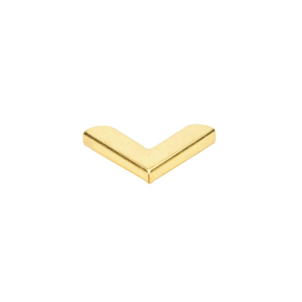 12 PCS Placcato Oro Libro Scrapbooking Album Menù Cartelle Salva angolo per album e cataloghi di File Carta Menu Notebook Cartella di Protezione 20*20 millimetri
