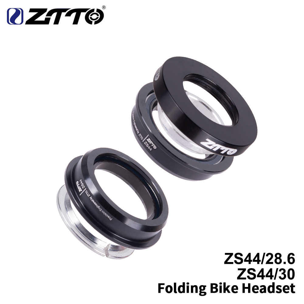 ZTTOFolding Bike steering column Headse ZS44 Headset44mm Steering1-1/8 28.6mm Straight Tube MTB Bike Low Profile Semi-integrated