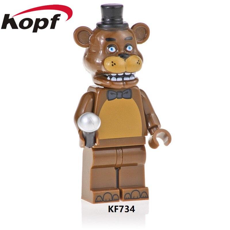 KF734 Single Sale Building Blocks Cartoon Movie Five Nights At Freddy's Model Foxy Golden Freddy Figures Gift Toys For Kids