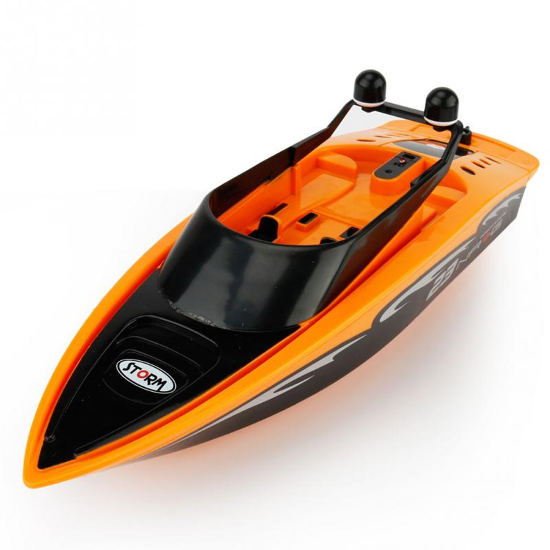 RC Ship Toys Radio Remote Control Mini RC Submarine R/C Racing Boat Toy Speedboat For Kids Boys Birhtday Gift Blue/Orange