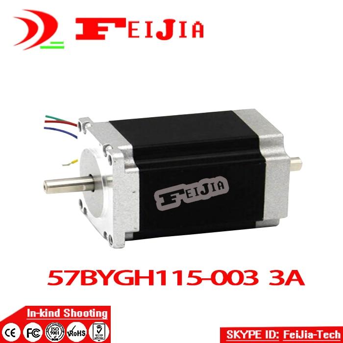 En gros CNC chaude Nema 23 moteur pas à pas double arbre 57BYGH115-003B 3.0A 425oz-in 115mm CE ROHS ISO broderie imprimante 3D