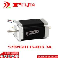 Venta al por mayor caliente DEL CNC de la Nema 23 Del Motor de Pasos 57BYGH115-003B 3.0A Dual Shaft $ number oz-in 115mm ISO del CE ROHS Bordado 3D Impresora
