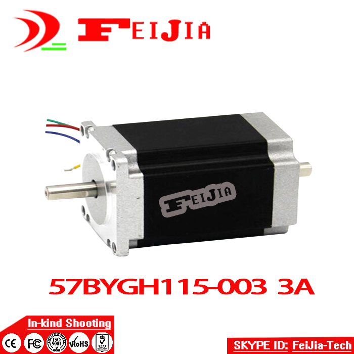 цена на Wholesale hot CNC Nema 23 Stepper Motor Dual Shaft 57BYGH115-003B 3.0A 425oz-in 115mm CE ROHS ISO Embroidery 3D Printer