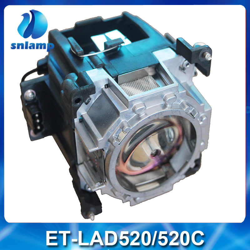 100% Original Intact package Projector Lamp ET-LAD520 ET-LAD520C ET-LAD520FC with housing for PT-SRS11KC PT-SDZ18K2C PT-SDS20K2C original replacement bare bulb panasonic et lal500 for pt lb280 pt tx400 pt lw330 pt lw280 pt lb360 pt lb330 pt lb300 projectors