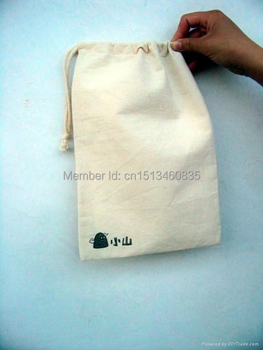 100pcs/lot High quality cotton jewelry pouch cotton gift pouch cotton drawstring pouch bag custom logo gifts bag toiletry bag