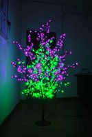 5ft LED Christmas new year party wedding Light Tree 672pcs LEDs Pink Flowers +green leaf home garden decor wtaerproof