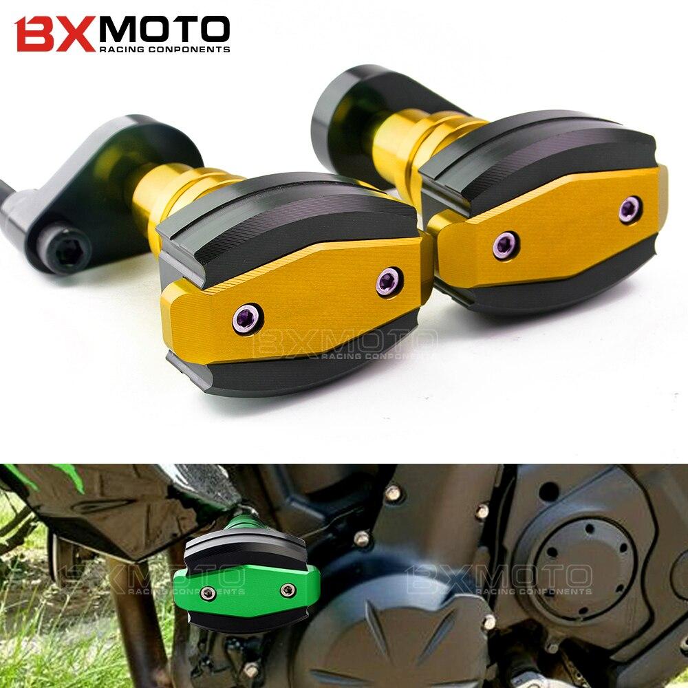 Motorcycle Cnc Frame Sliders Falling Protection Anti Crash Pad Left&Right Sides for kawasaki ER6N ER6F ER 6N ninja 650 2012-2016