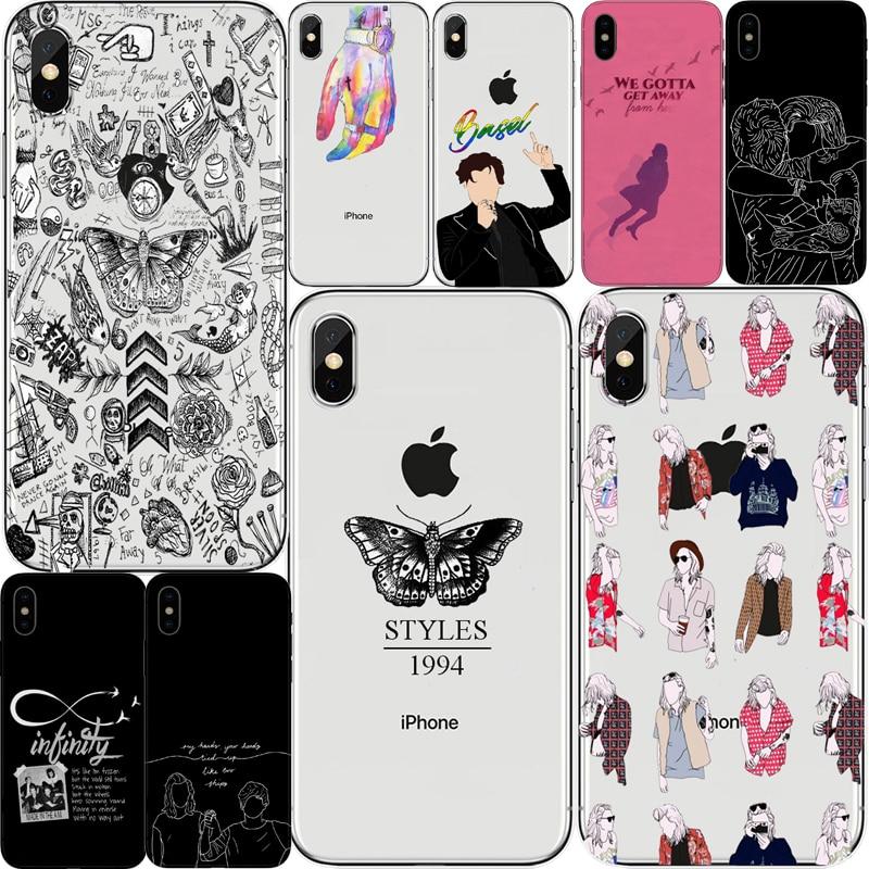 Tatuagens do One Direction Harry Styles Phone Cases para Coque iphone 5 6 7 8 Plus