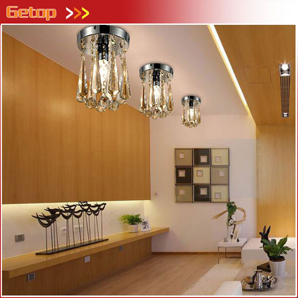 Best Price Modern Round LED Crystal Ceiling Lights Living Room Balcony Entrance Hallway Aisle Lights Crystal Light D15cm x H23cm t best price modern lustre rectangular crystal chandeliers for dining room pandent lamp with led bulbs for entrance aisle