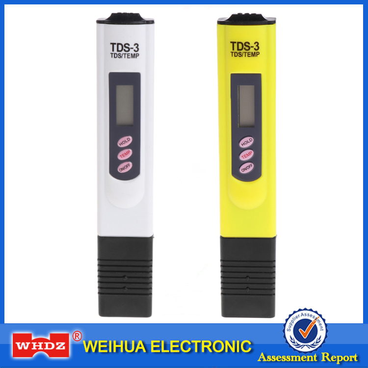 WHDZ High Quality Digital LCD Water Quality Testing Pen PH meter Purity Filter TDS Meter Tester 0-9990 PPM Portable TEMP/PPM digital ph meter and tester with large screen tds tester meter for water quality 3 in 1 accurate tds ec temperature 0 9990 ppm