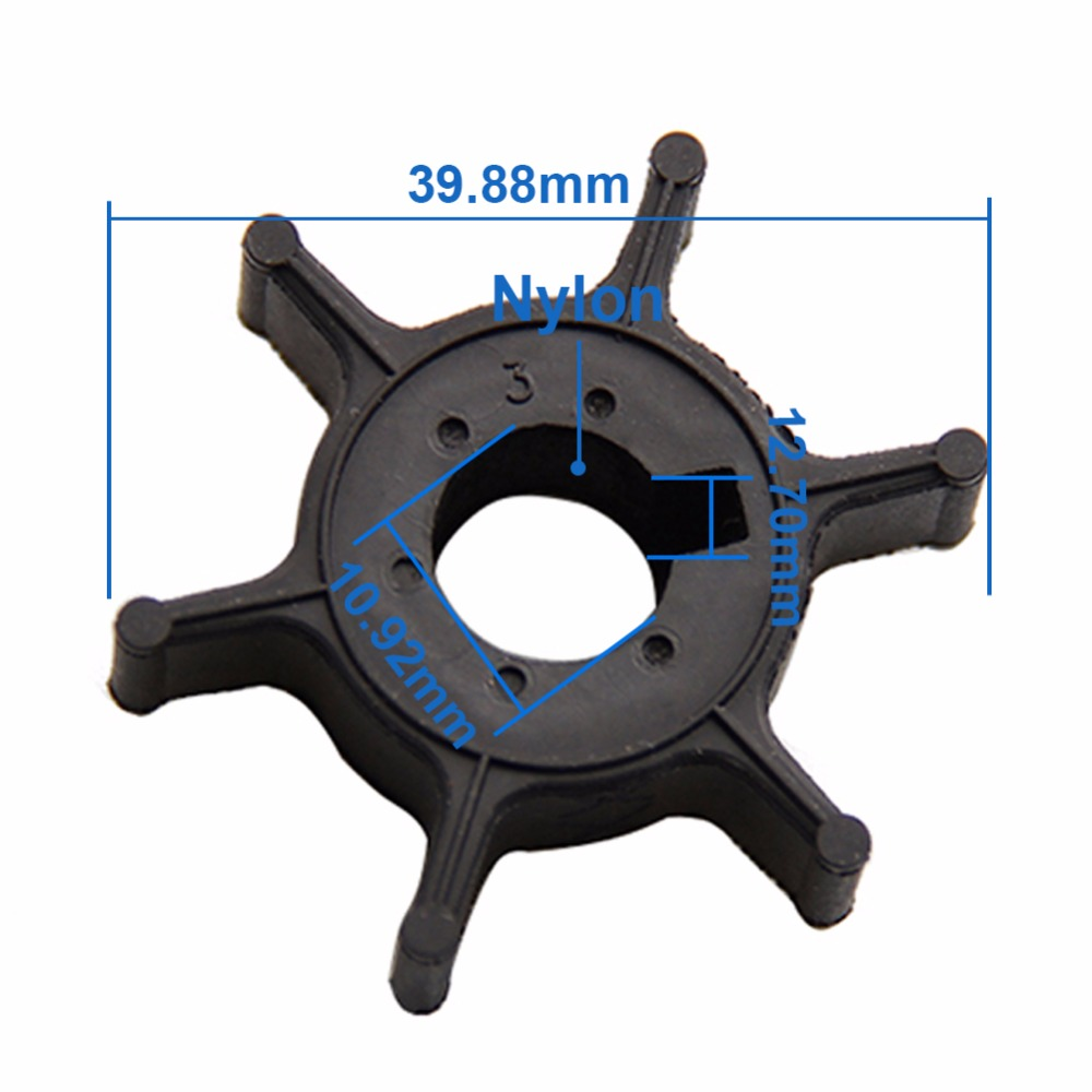 CARBOLE Boat Engine Impeller for Yamaha 4HP 5HP 6HP Outboard Motor 6E0-44352