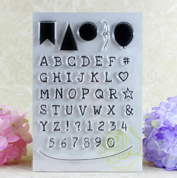 Scrapbook DIY Photo Album Card Rubber Chapter Transparent Seal Letters & numbers Clear Stamp 97 scrapbook diy photo album card rubber chapter transparent seal month permanent calendar clear stamp 136