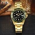 Mce mens relógios de marca caros marca todo o aço inoxidável estilo do relógio de ouro dos homens relógio de pulso com caixa de presente original 32
