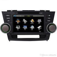 8 Car DVD player with GPS(opt),audio Radio stereo,BT/TV,car multimedia for Toyota Highlander 2008 2009 2010 2011 2012 2013 2014