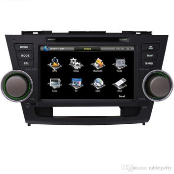 "8"" Car DVD player with GPS(opt),audio Radio stereo,BT/TV,car multimedia for Toyota Highlander 2008 2009 2010 2011 2012 2013 2014"