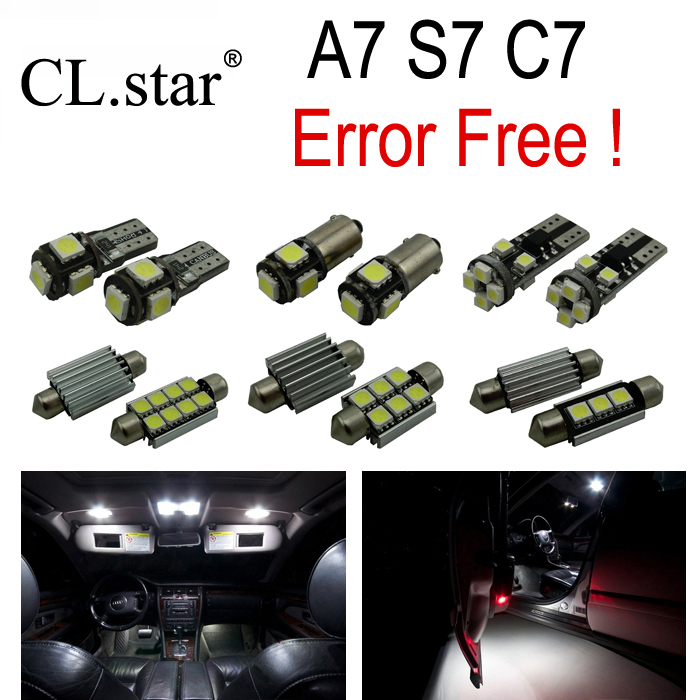 16pc X canbus Error Free LED Lamp Interior Light Kit Package for Audi A7 S7 RS7 C7 Quattro Sedan Sportback (2011+) 16pc x canbus error free led bulb interior light kit package for audi a3 s3 8p 2006 2013