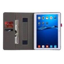 M3 Lite Cubierta de la Pu para Huawei MediaPad 10 Juventud BAH-W09 BAH-AL00 10.1 pulgadas Tablet Grip Holder Mano Shell Tarjeta de Ranuras