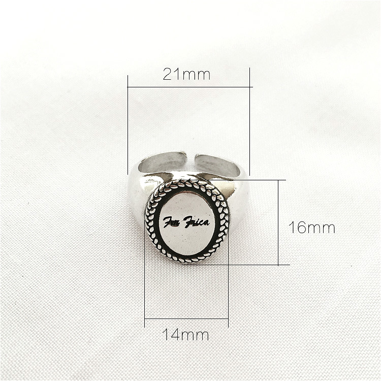 100 925 Sterling Silver Jewelry Rings For Women Fashion Woven Twist Vintage Oval Simple Open Ring Ins Hipster Style Dropshiping in Rings from Jewelry Accessories
