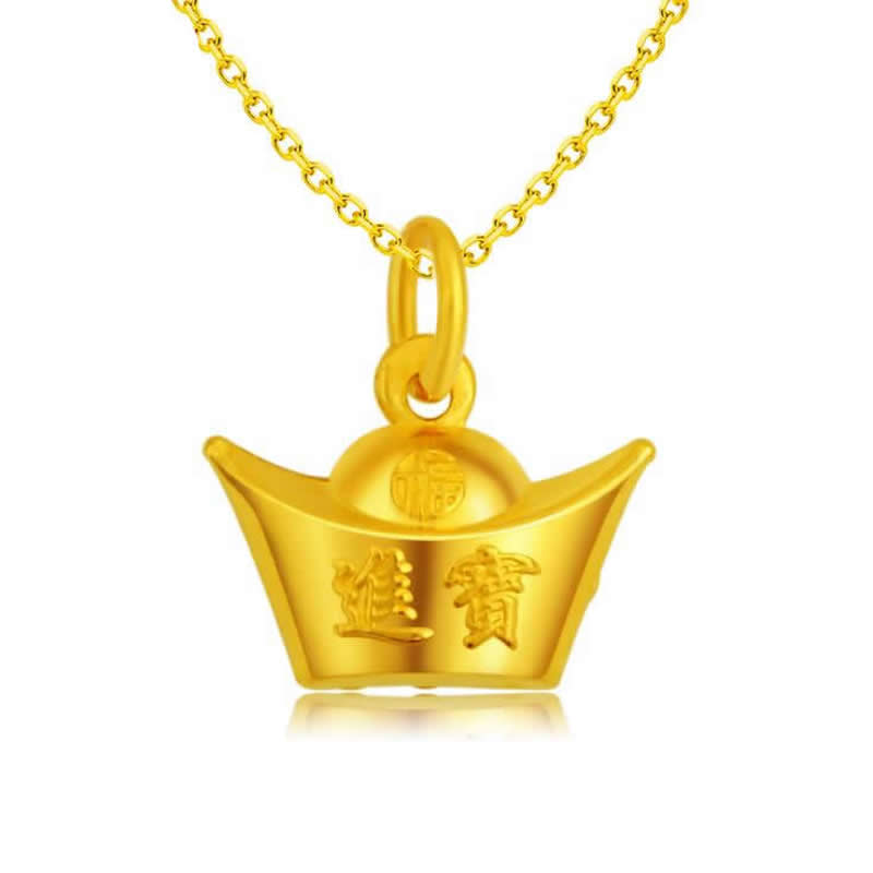 new Pure 24K Yellow Gold Gold coin pendant / Fashion Lucky money gold Pendant 1g hot sale new pure 24k yellow gold pendant 3d craft lucky number 3 pendant 1 68g