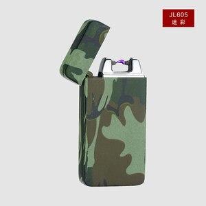 Image 5 - Plasma Cigar Arc Palse Lighter Pulse Windproof Lighter Thunder USB Lighter Rechargeable Cigarette Accessorie Electronic Lighter