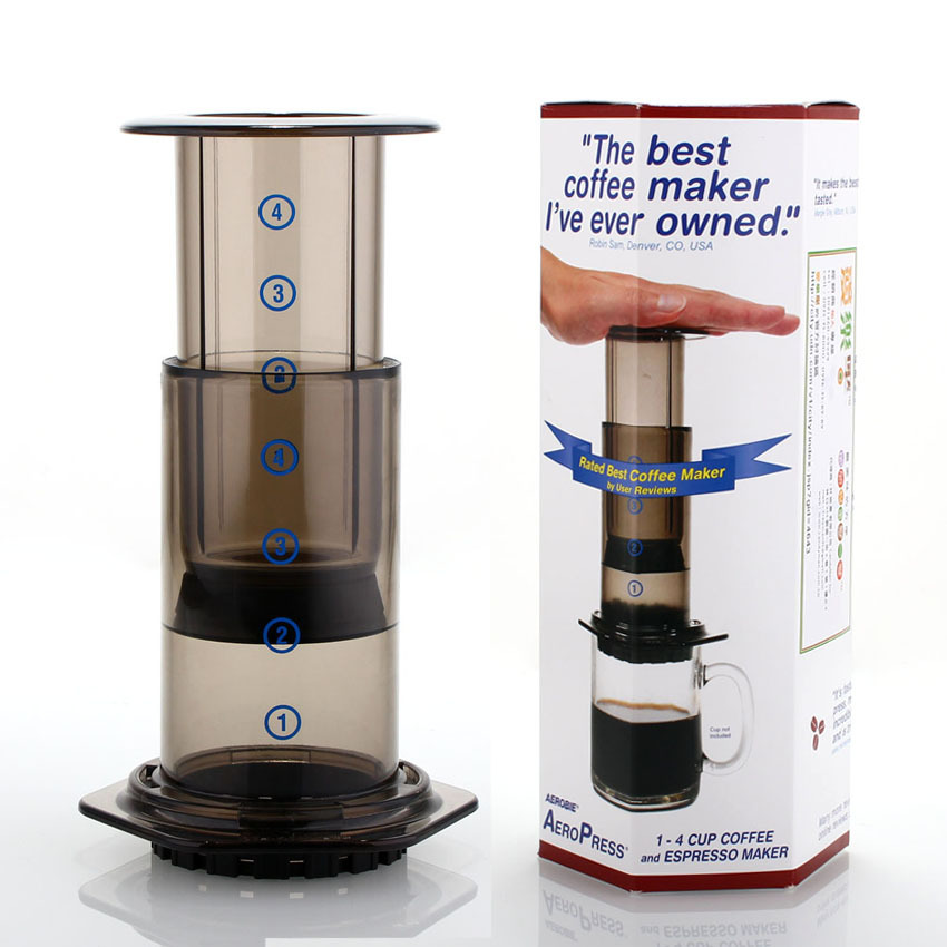 High quality Aeropress DIY Coffee maker with 350pcs Filter aeropress coffee maker tool
