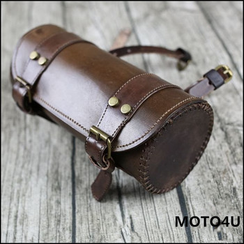 Universal Motorcycle Handlebar Bags Motorbike Sissy Bar Bags Side Tool Bags Front Forks Genuine leather Luggage