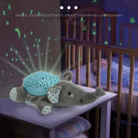 Baby Sleep LED Lighting Infant Music Plush Animal Toys With Stars Moon Pattern Projector For Toddler