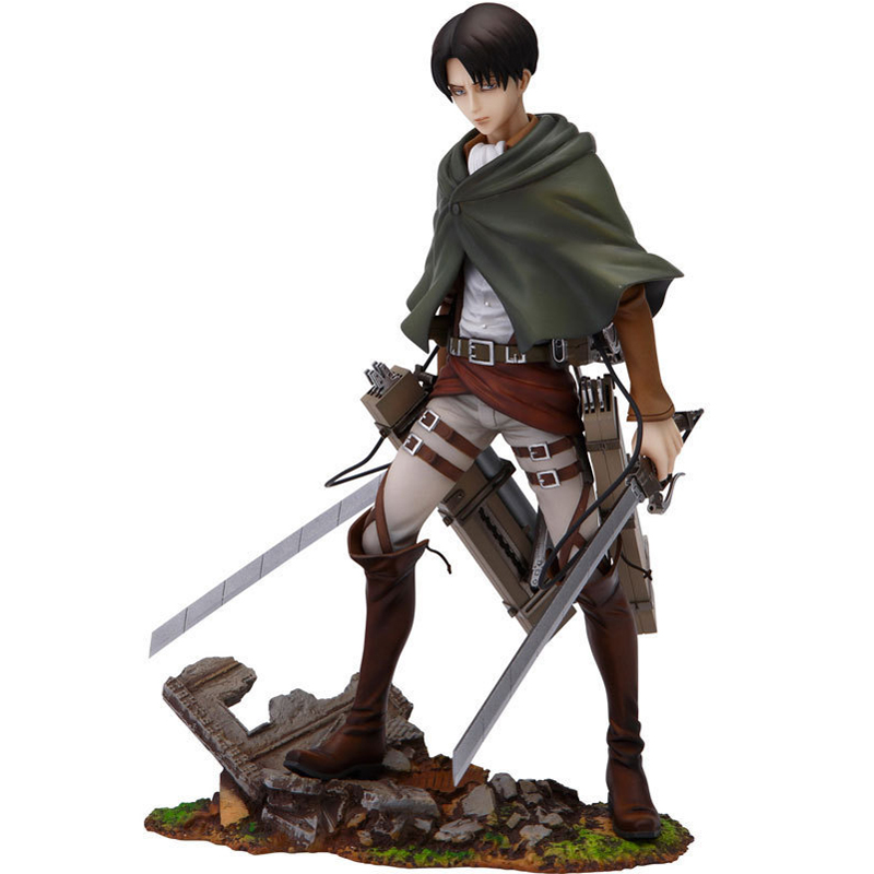 ZXZ 20 cm 1/8 Japanese Anime Attack On Titan Rival Ackerman PVC Action Figure Toy Doll Kids Adult Collection Model Gift anime one piece dracula mihawk model garage kit pvc action figure classic collection toy doll