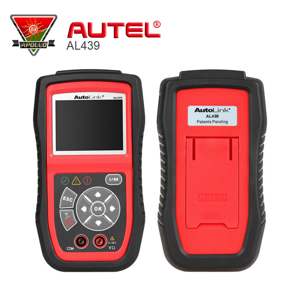[Authorized Distributor]Auto MultiMeter AVOMeter Scanner Color Screen OBDII Diagnostic Autel Auto link AL439 Engine Code Scanner