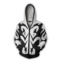Kingdom Heart Xemnas Cosplay Hoodie 3D Print Casual Zip Jacket Sweatshirt