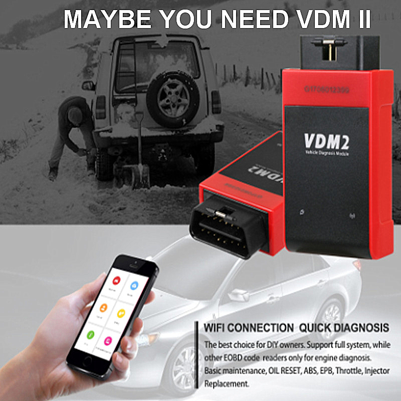 Newly UCANDAS VDM2 3.9 Wifi Full Systems Auto Diagnostic Scanner the VDMII 2 Same AS VDM Better Than EASYDIAG Update Free hot new xtuner e3 easydiag wireless obdii full diagnostic tool with special function pefect replacement for vpecker easydiag