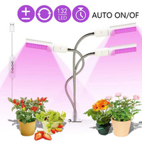 3 HEAD indoor LED grow Light Full Spectrum Growth Clip Fitolampy Growing Phyto Lamp hydro tent box for cultivo indoor growbox