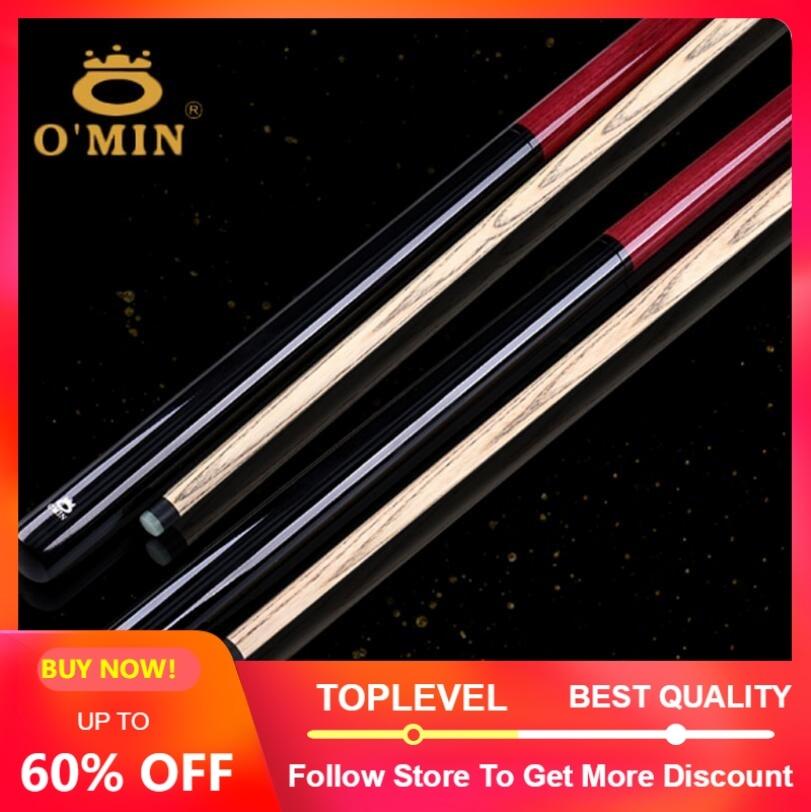 New Arrival O min Brand Break Punch Jump Cue Billiard Stick Kit Ash Wood Shaft Professional