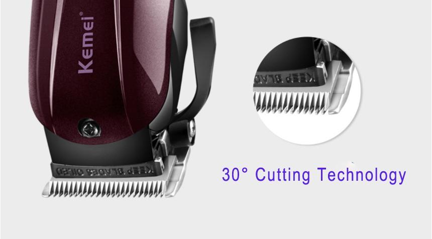 2019 Kemei professionnel électrique tondeuse cheveux puissant tondeuse cheveux rasage machine cheveux coupe perle électrique rasoir - 3