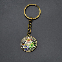 6 Color The Legend of Zelda Keychain Boys Girls Cartoon Round Pendant Metal Key Chains High Quality Anime Key Rings For Children