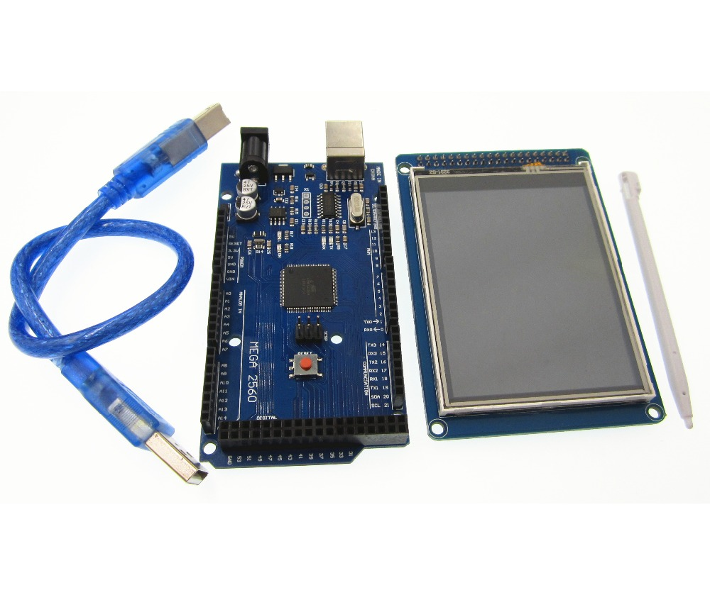 Free shipping! 3.2 inch TFT LCD screen module Ultra HD 320X480 + MEGA 2560 R3 Board with usb cable free shipping originalnew 9 inch lcd screen cable number fy 90dh 40p p09