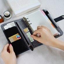 Japoński osobisty mleczny filc z Pu skórzany dziennik podróży złoty pierścień notatnik biurowy śliczne Kawaii Agenda Planner A5 A6