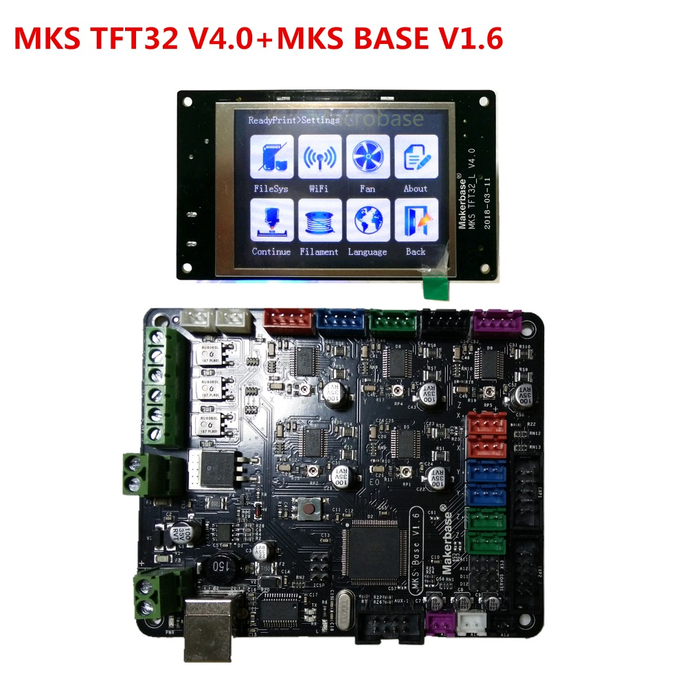 3d printer starter kit control board MKS BASE V1.6 + MKS TFT32 V4.0 touch screen all in one controller imprimante Reprap panel 3d printer kit motherboard mks base mks tft32 touch screen all in one controller starter kits imprimante reprap control panel