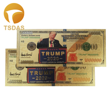 New Products for Gold American Trump Banknote 100 Dollar Banknotes In 24k Plated Collection