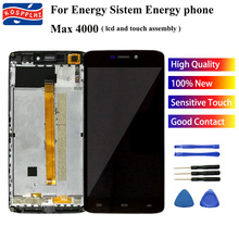 KOSPPLHZ oryginał dla energii Sistem Energy telefon Max 4000 wyświetlacz LCD + zespół ekranu dotykowego + zamiennik digitizera ramy + narzędzia
