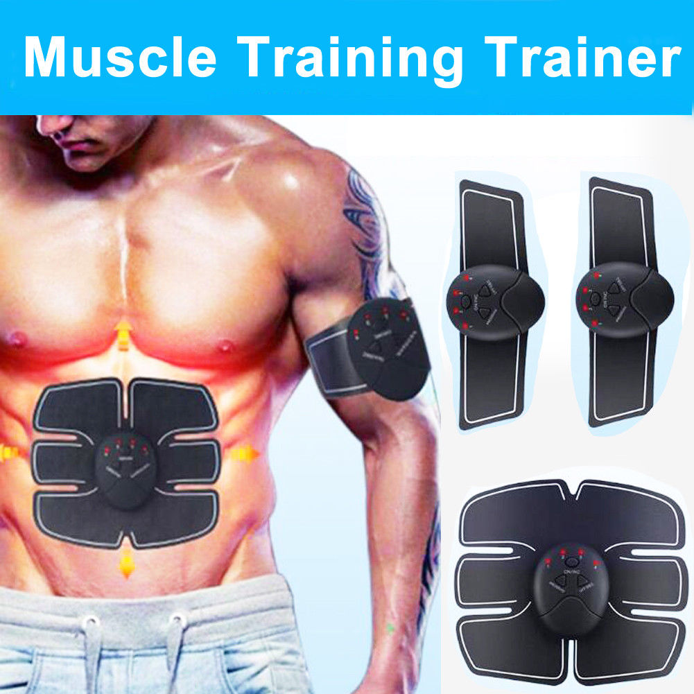Factory price 6 PACK EMS Smart Muscle Stimulator Abdominal Trainer Pad Hip  Slimming Massager Unisex Body Modes