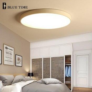 Domu mody lampy sufitowe LED oświetlenie do sypialni pokój dzienny jadalnia kuchnia nowoczesny czarny & biały-Black & White korpus LED sufitowe u nas państwo lampy AC220V110V