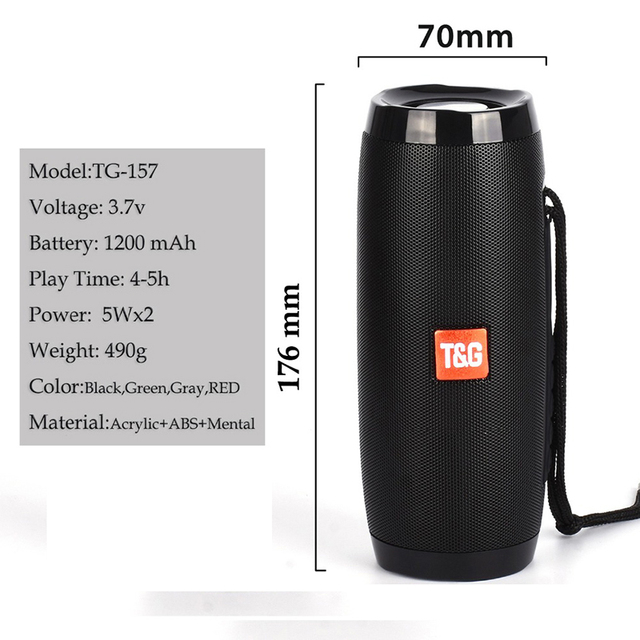 Wireless Bluetooth Speaker Portable 5