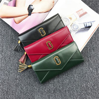 2017 Card Holder Wallet Female Day Clutches Casual Quality PU Leather Hasp Luxury Women Portfolio Money