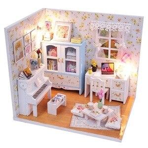 Image 2 - 1個diy笑ベッドと家具チェアベッドテーブル本棚窓ピアノなど家のおもちゃオリジナル笑
