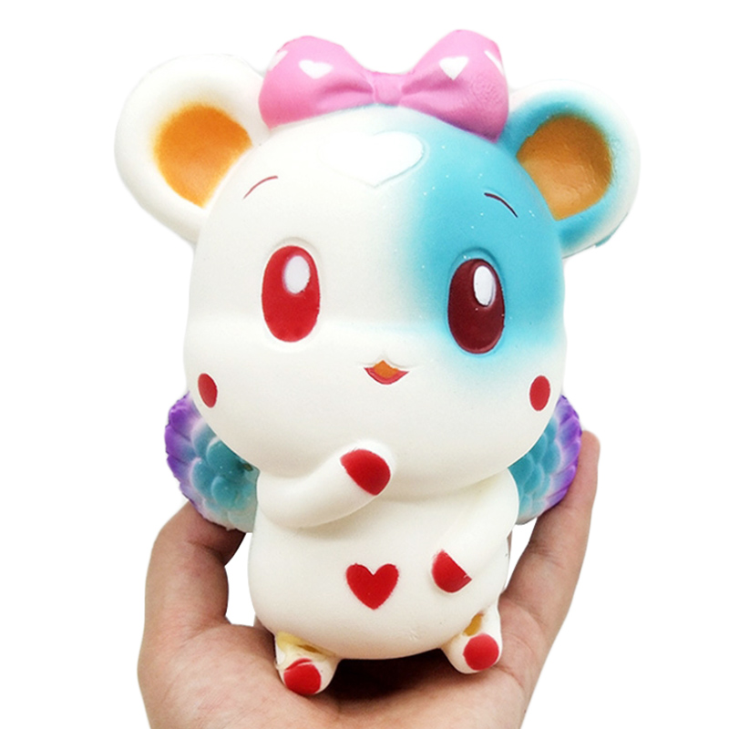 Jumbo Angel Mouse Squishy Simulation Cute Cartoon Doll Slow Rising Cream Scented Squeeze Toy Stress Relief Fun For Kid Gift