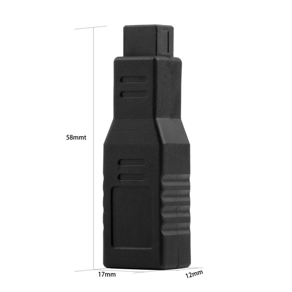 1pc New Fire wire 800 to 400 Adapter Converter Connecter 9/6 Pin IEEE 1394 Black Wholesale High Quality
